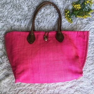 Lily Pulitzer pink pineapple beach tote